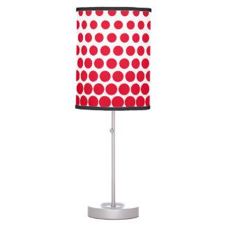 Cadmium Red Polka Dot Modern White Table Lamp