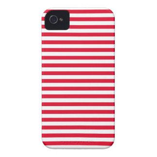 Cadmium Red Stripes; Striped iPhone 4 Case-Mate Case