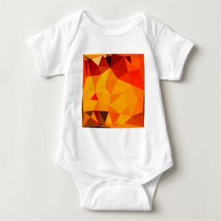 Cadmium Yellow Abstract Low Polygon Background Baby Bodysuit