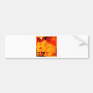 Cadmium Yellow Abstract Low Polygon Background Bumper Sticker