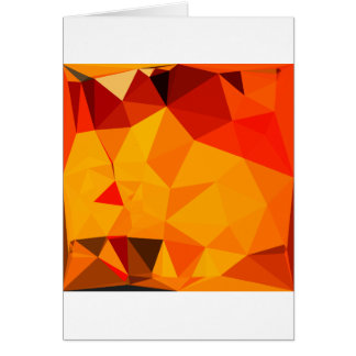 Cadmium Yellow Abstract Low Polygon Background Card