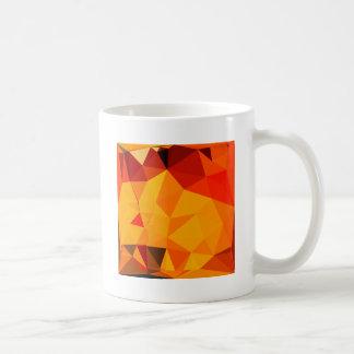 Cadmium Yellow Abstract Low Polygon Background Coffee Mug
