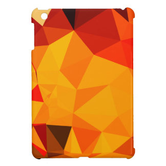 Cadmium Yellow Abstract Low Polygon Background iPad Mini Covers