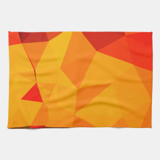 Cadmium Yellow Abstract Low Polygon Background Kitchen Towel