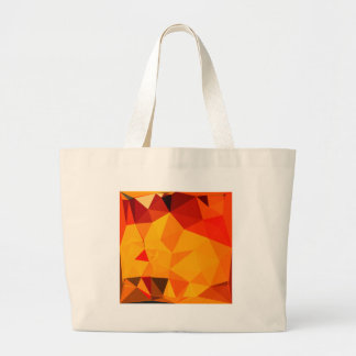 Cadmium Yellow Abstract Low Polygon Background Large Tote Bag