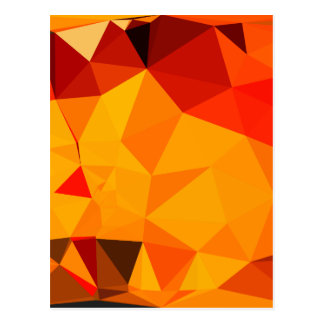 Cadmium Yellow Abstract Low Polygon Background Postcard