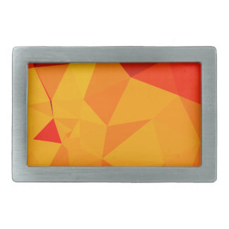 Cadmium Yellow Abstract Low Polygon Background Rectangular Belt Buckles