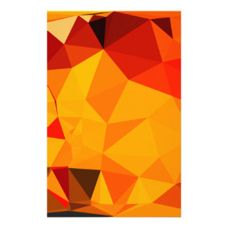 Cadmium Yellow Abstract Low Polygon Background Stationery
