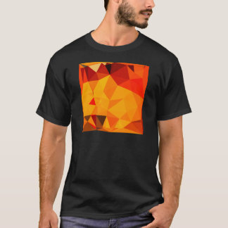 Cadmium Yellow Abstract Low Polygon Background T-Shirt