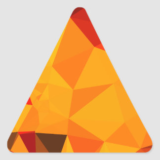 Cadmium Yellow Abstract Low Polygon Background Triangle Sticker