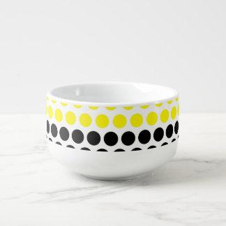 Cadmium Yellow and Black Polka Dot Soup Mug