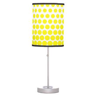 Cadmium Yellow Polka Dot Modern White Table Lamp