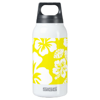 Cadmium Yellow Tropical Hibiscus Insulated Water Bottle