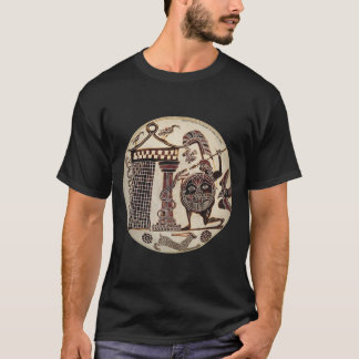 Cadmos fighting the dragon of Thebes T-Shirt
