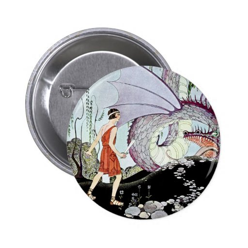 Cadmus and the Dragon from Tanglewood Tales Pin