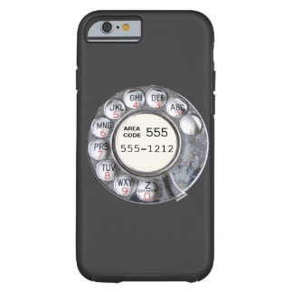 Cadran rotatoire de téléphone avec le numéro de coque iPhone 6 tough