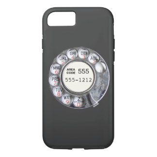 Cadran rotatoire de téléphone avec le numéro de coque iPhone 7