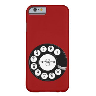 Cadran rotatoire vintage (red) coque barely there iPhone 6