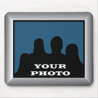 Cadre argenté votre photo Mousepad Tapis De Souris
