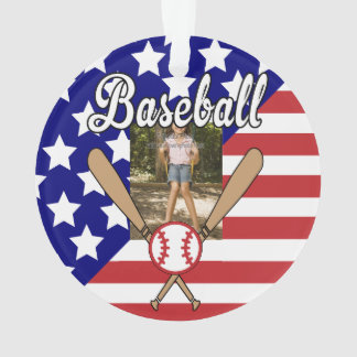 Cadre de photo de bannière étoilée de base-ball