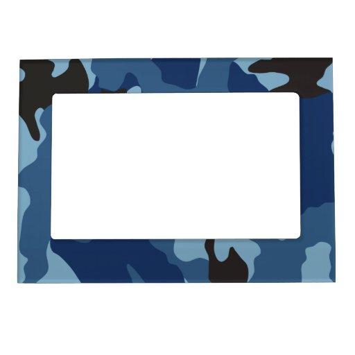 Cadre de tableau magnétique militaire bleu de Camo Cadres Magnétiques Pour Photo