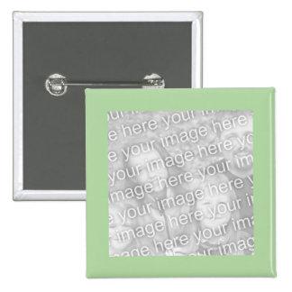 cadre vert simple de photo macaron carré 5 cm