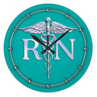 Caducée de RN d'infirmier autorisé sur la Pendule Murale