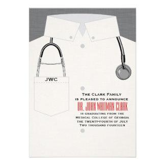 Caducée et invitation médicale de stéthoscope