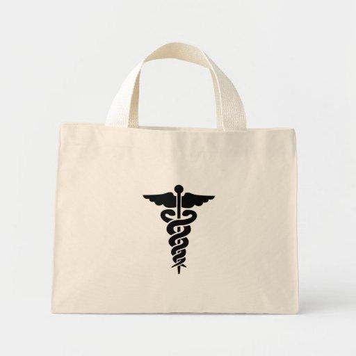 Caducée médical de symbole sacs fourre-tout