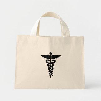 Caducée médical de symbole sac en toile mini
