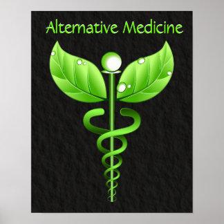 Caduceus Alternative Medicine Poster Print Print