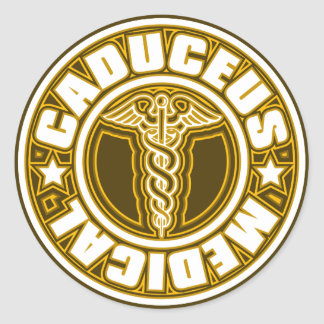 Caduceus Classic Round Sticker