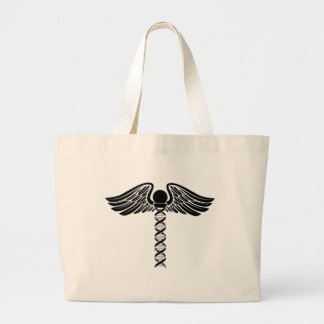 Caduceus DNA Concept Large Tote Bag