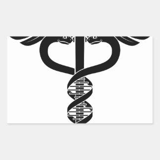 Caduceus DNA Double Helix Concept