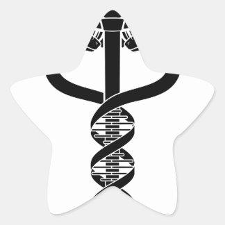 Caduceus DNA Double Helix Concept Star Sticker