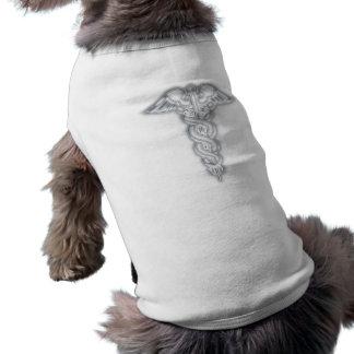 Caduceus Dog T Shirt