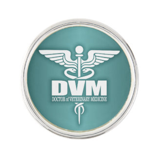 Caduceus DVM 3 Lapel Pin
