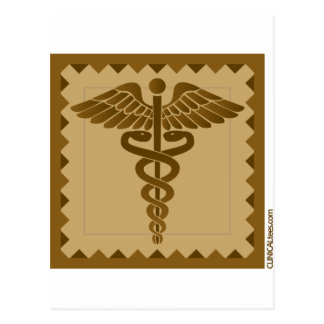 Caduceus ethnic print post cards