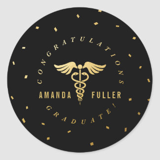 Caduceus Graduation Party Decoration Sticker