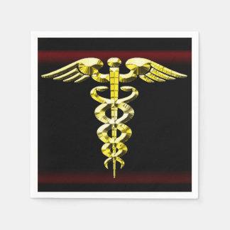 Caduceus Health Logo Paper Napkins