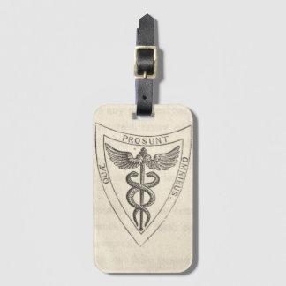 Caduceus in Shield Bag Tag