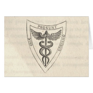 Caduceus in Shield Card