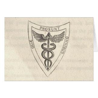 Caduceus in Shield Card