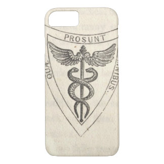 Caduceus in Shield iPhone 8/7 Case
