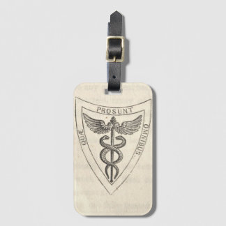 Caduceus in Shield Luggage Tag