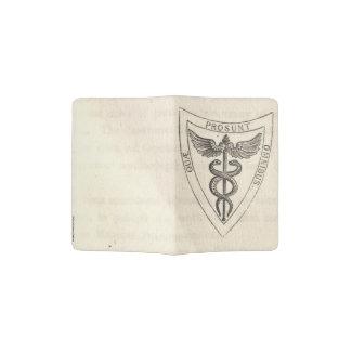 Caduceus in Shield Passport Holder