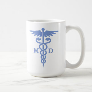Caduceus MD (blue) Coffee Mug