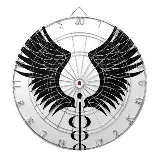 Caduceus Medical Symbol Dartboard With Darts