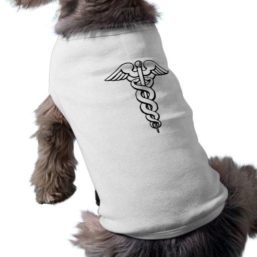 Caduceus Medical Symbol Pet Shirt