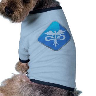 Caduceus Medical Symbol Doggie Tee Shirt